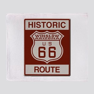 Winslow Historic Route 66 Throw Blanket