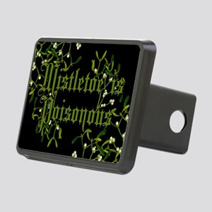 Mistletoe Is Poisonous Rectangular Hitch Cover