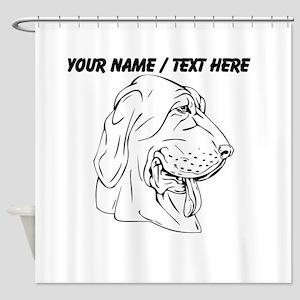 Custom Dog With Floppy Ears Sketch Shower Curtain
