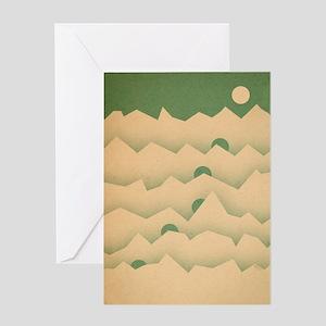 Mountain Moon Rising Greeting Card