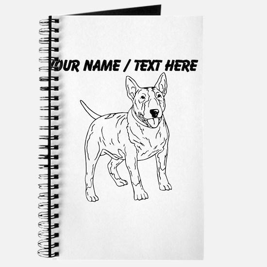 Custom English Bull Terrier Sketch Journal