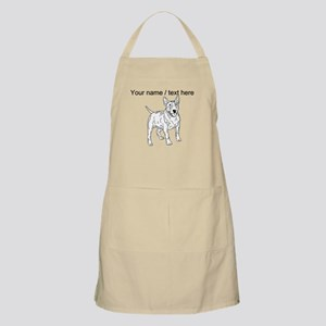 Custom English Bull Terrier Sketch Apron