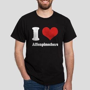 I Heart Affenpinschers Dark T-Shirt