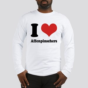 I Heart Affenpinschers Long Sleeve T-Shirt