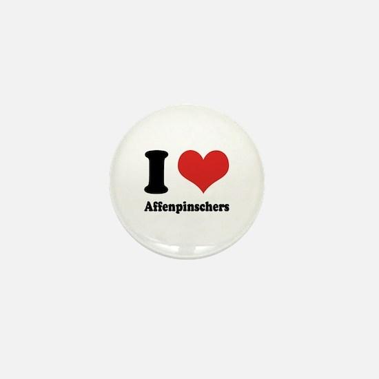 I Heart Affenpinschers Mini Button