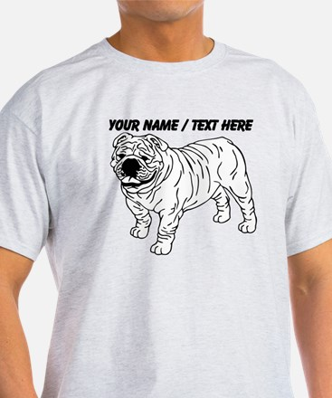 Custom Bulldog Sketch T-Shirt
