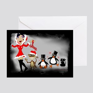 Holly Jolly Hol (Dark) Greeting Cards (Package of