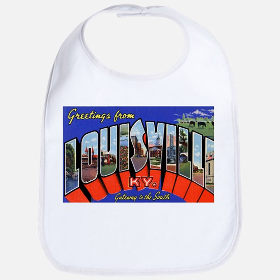 Louisville Kentucky Greetings Bib