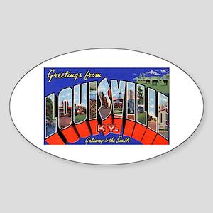 Louisville Kentucky Greetings Oval Sticker