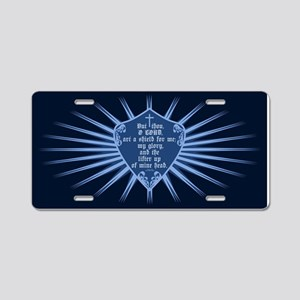 Psalm 3:3 Shield Aluminum License Plate