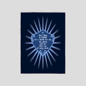 Psalm 3:3 Shield 5'x7'Area Rug