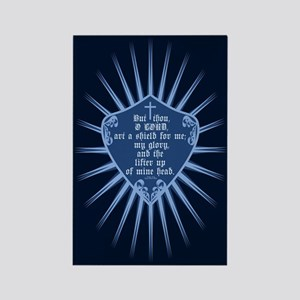 Psalm 3:3 Shield Rectangle Magnet
