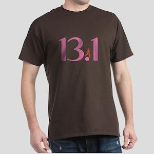 13.1 Half Marathon Runner Girl Dark T-Shirt