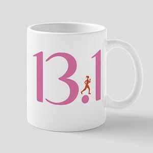 13.1 Half Marathon Runner Girl Mug