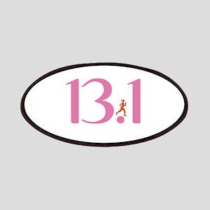 13.1 Half Marathon Runner Girl Patches