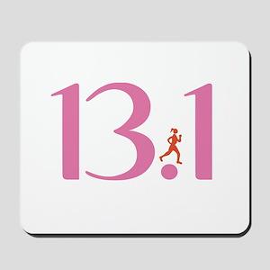 13.1 Half Marathon Runner Girl Mousepad