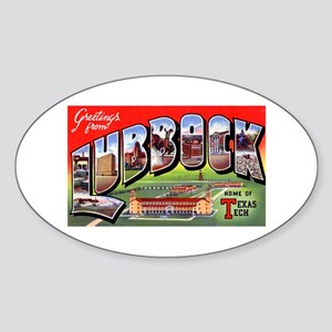 Lubbock Texas Greetings Oval Sticker