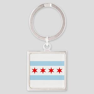 Chicago Flag Keychains
