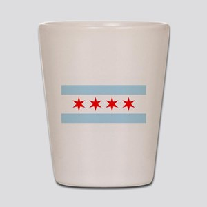 Chicago Flag Shot Glass