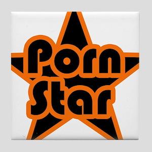 Porn Star Tile Coaster