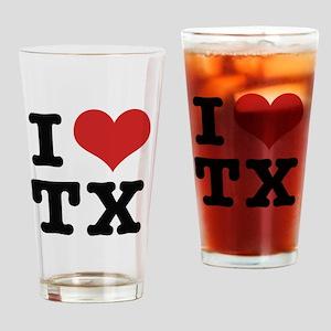 I love texas Drinking Glass