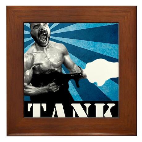 Tank Bookman, Circa 1991 Framed Tile