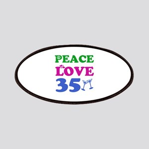 Peace Love 35 Patches