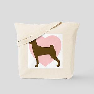 Basenji Heart Tote Bag