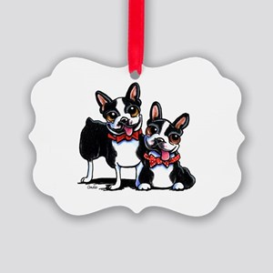 Bowtie Boston Terriers Ornament