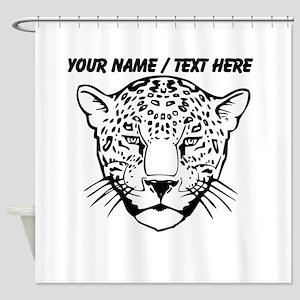Custom Cheetah Face Sketch Shower Curtain