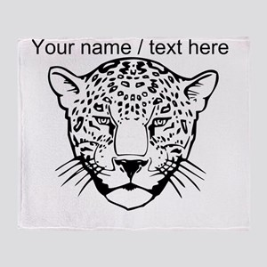 Custom Cheetah Face Sketch Throw Blanket