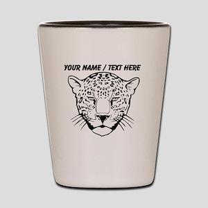 Custom Cheetah Face Sketch Shot Glass