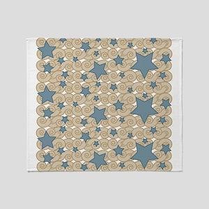 Starry Swirly Night Throw Blanket