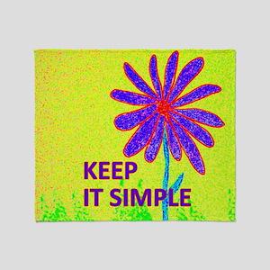 Wildflower Keep It Simple Throw Blanket