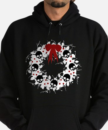 Gothic Christmas Wreath Hoodie (dark)