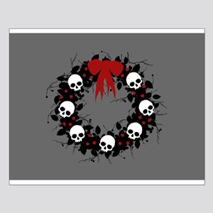 Gothic Christmas Wreath Small Poster
