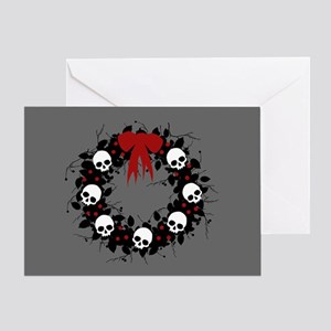 Gothic Christmas Wreath Greeting Card