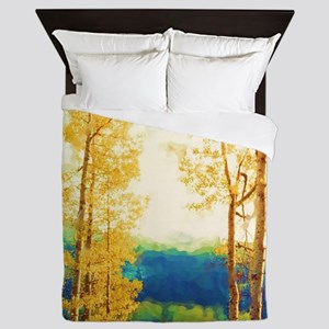 Faded Aspens Queen Duvet
