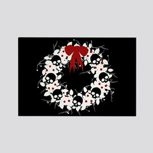 Gothic Christmas Wreath Rectangle Magnet