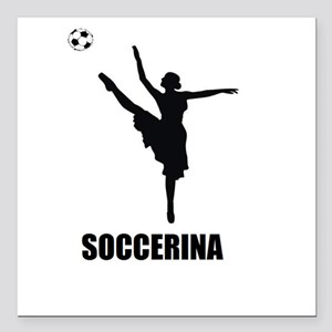 "Soccerina Square Car Magnet 3"" x 3"""