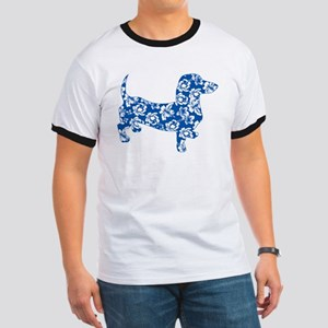 Aloha Doxie in Blue Ringer T