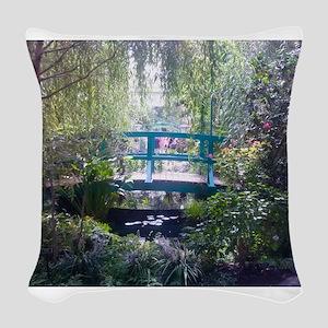 Monet Bridge Horizontal Woven Throw Pillow
