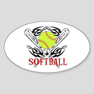 Softball Tribal Sticker