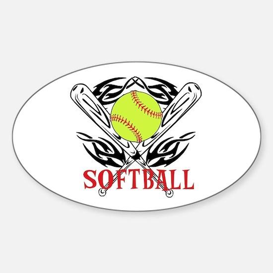 Softball Tribal Decal