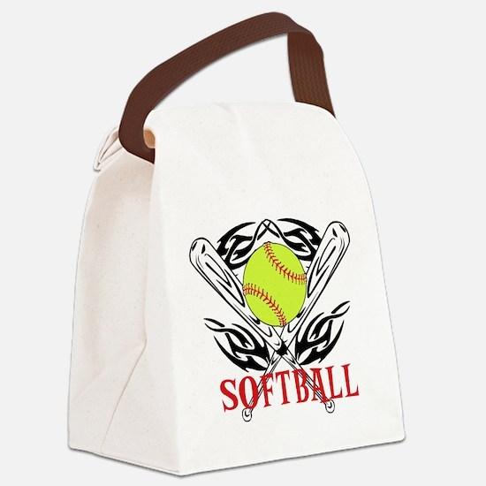 Softball Tribal Canvas Lunch Bag
