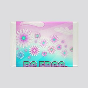 Be Free Bright and Colorful Inspirational Floral R