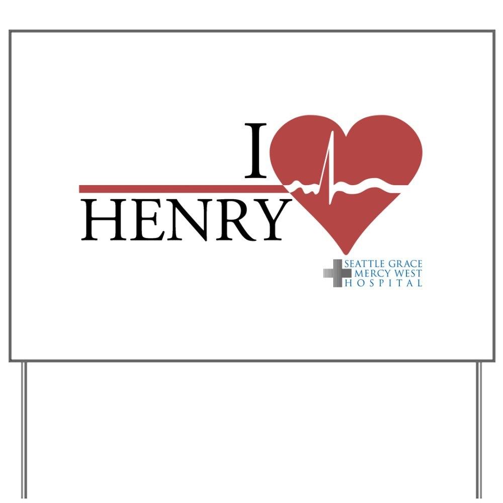 I Heart Henry - Grey\'s Anatomy Yard Sign - Whee! TV