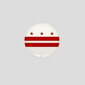 Washington DC Flag Mini Button