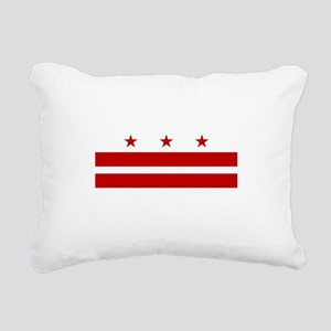 Washington DC Flag Rectangular Canvas Pillow