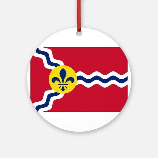 St Louis Flag Ornament (Round)